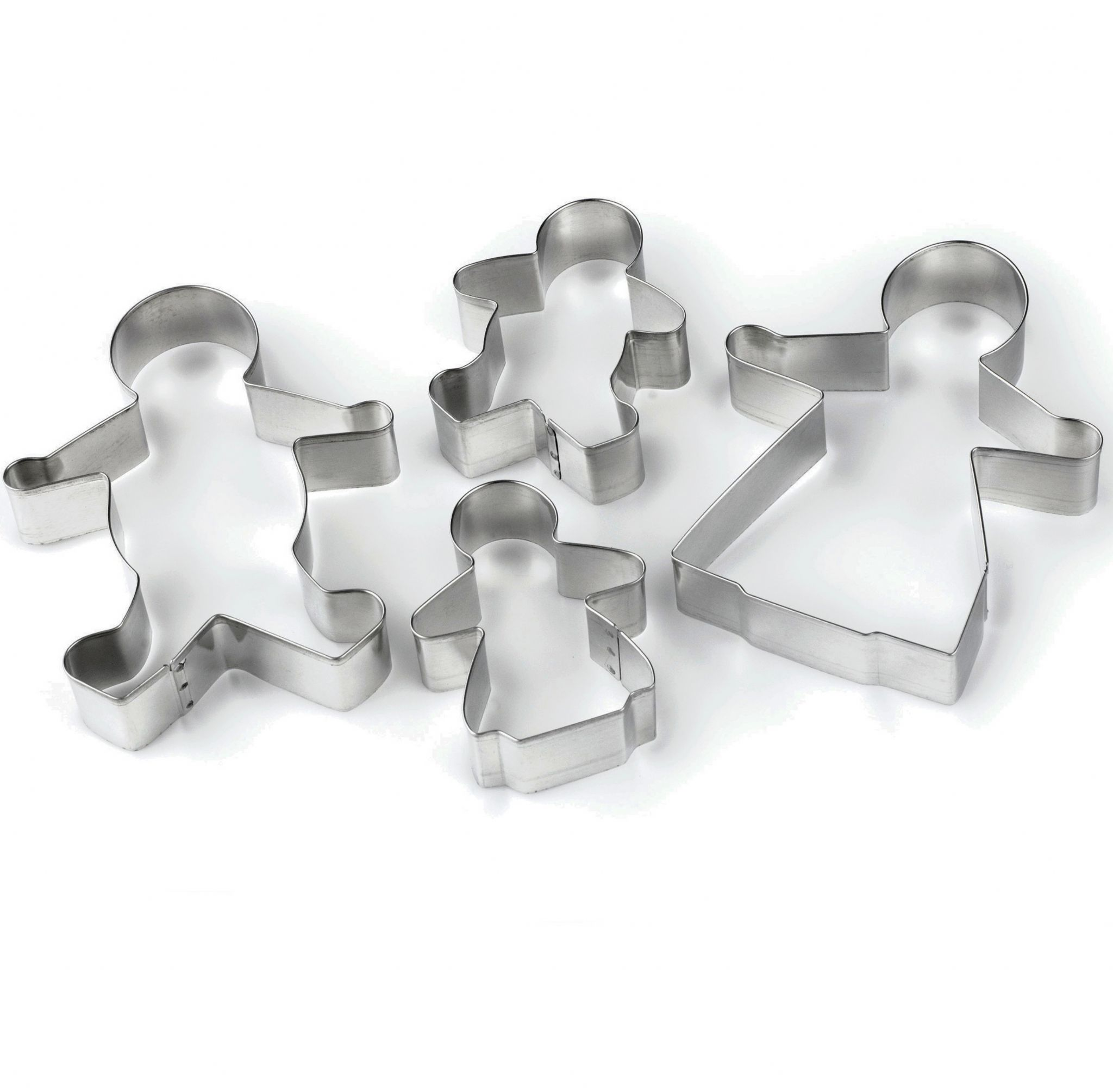 Tala Gingerbread Family Man Kids Cookie Cutters Stainless